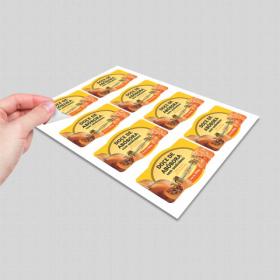 Adesivo com Meio Corte Adesivo Vinil  Impressão Colorida  Corte Eletrônico no Formato