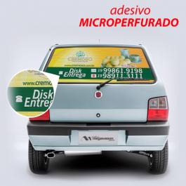 Adesivo em Vinil Vinil Microperfurado  Impressão Colorida  Corte Reto sem instalação