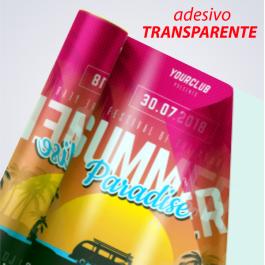 Adesivo em Vinil Vinil Transparente Metro Quadrado Impressão Colorida  Corte Reto