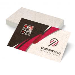 Cartão de visita Reciclato 240g 9x5cm Impressão Colorida sem Verniz Corte Reto ( 4x0 / só frente )