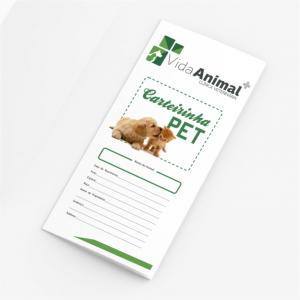 Carteirinha de Vacinação Pet Papel Sulfite 180g A4 21x29cm ( Aberta ) Colorida