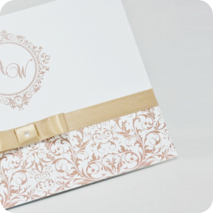 Convites de Casamento Papel Couchê 250g    Corte Reto