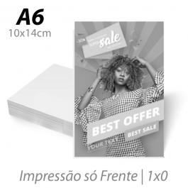Flyers / Folhetos Sulfite 75g 10x14cm (A6) Impressão Preto e Branco Sem verniz Corte Reto
