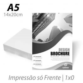Flyers / Folhetos Sulfite 75g 14x20cm (A5) Impressão Preto e Branco Sem verniz Corte Reto