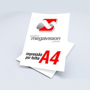 Impressão por Folha A4 Papel 21x29cm Impressão Colorida  Somente Impressão Impressão à Laser