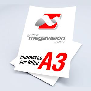 Impressão por Folha A3 Papel  Impressão Colorida  Somente Impressão Impressão à Laser